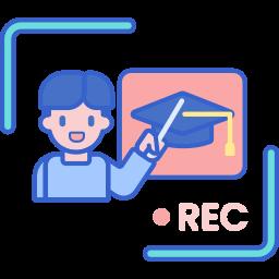 Oktatóvideó ikon
