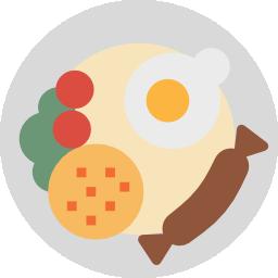 Étel tányéron