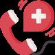 Segélyhívó telefon ikon